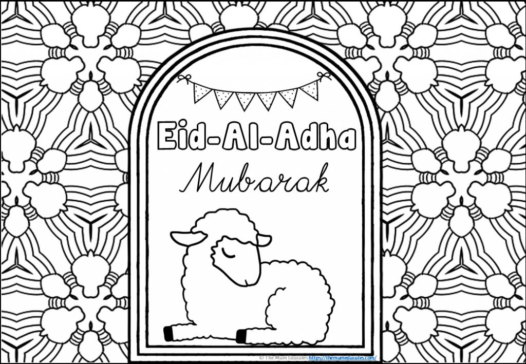 Free Eid Al Adha Coloring Sheet In 2020 Mindfulness Colouring Mindfulness Colouring Sheets Coloring Sheets