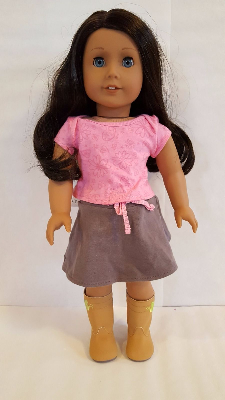 American Girl Just Like You Doll Dark Hair Blue Eyes 49 Truly