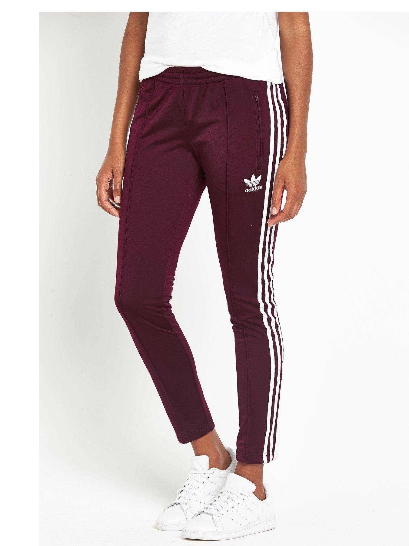 6c3208c612a91 adidas Originals Superstar Track Pants - Maroon An iconic design is given a  fresh coat of paint for the colder months with the rich maroon hue of these  ...