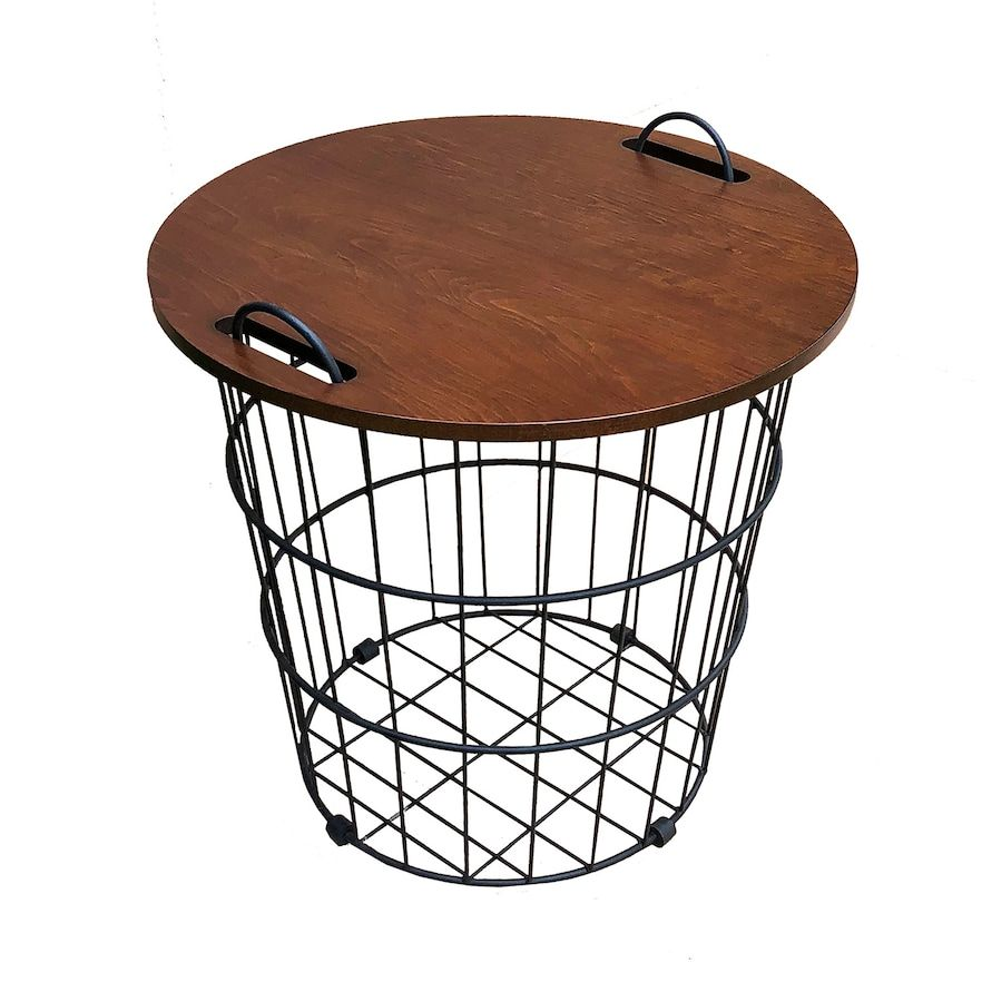 Sonoma Goods For Life Wire Basket Side Table Wire Basket Decor Wire Side Table Wire Baskets