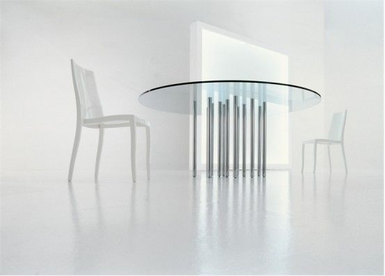 Design Styles, Decorating Ideas | Rectangle And Round Glass Top Dining  Tables  Mille by