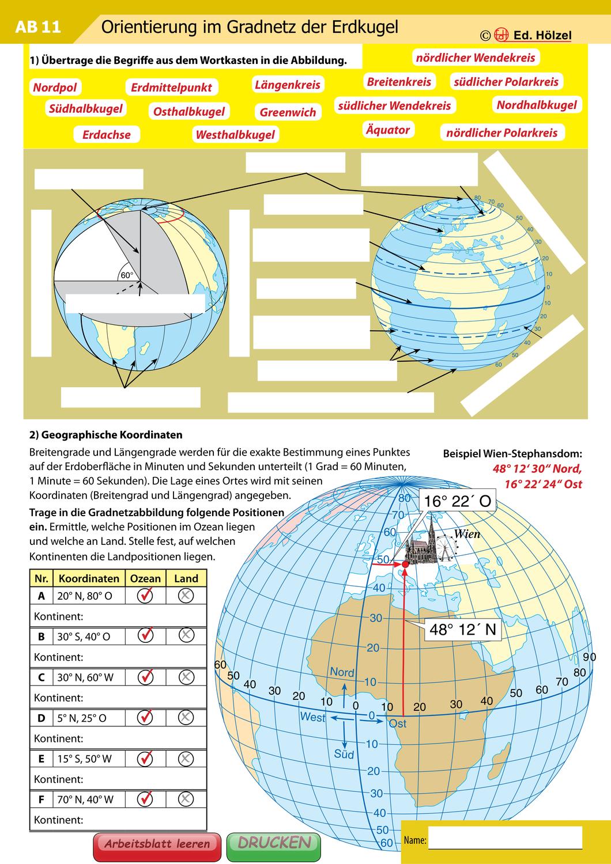 Paket Orientierung und Suche mit Gradnetz und Koordinaten ...
