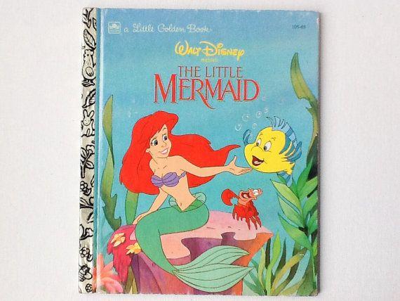 1992 Little Mermaid Little Golden Book, Walt Disney's Little Mermaid, Golden Books, Hardback, 00979