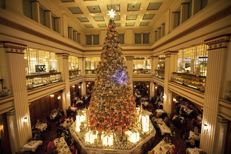 The former Marshall Field's (which is now Macy's) Walnut Room, December 2014
