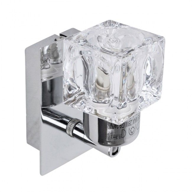 Single polished chrome ice cube style wall light ice ice baby single polished chrome ice cube style wall light mozeypictures Images