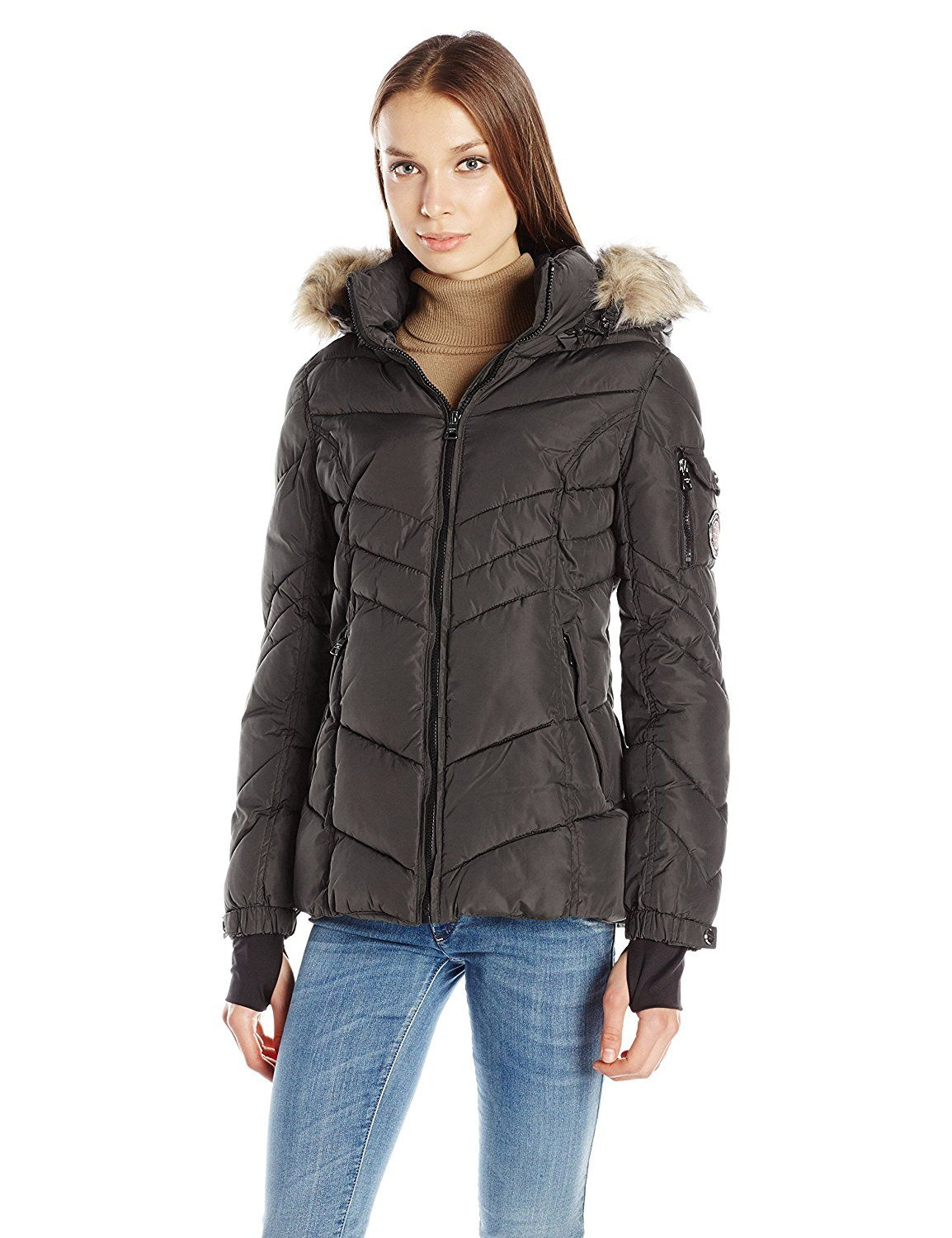 Madden Girl Women's Puffer Jacket >>> This is an Amazon