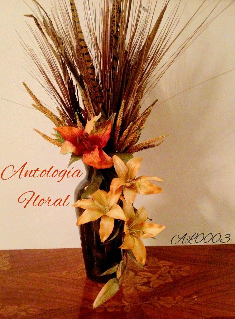 Arreglo de flores artificiales lilis amarillas y lili - Decoracion de jarrones con flores artificiales ...