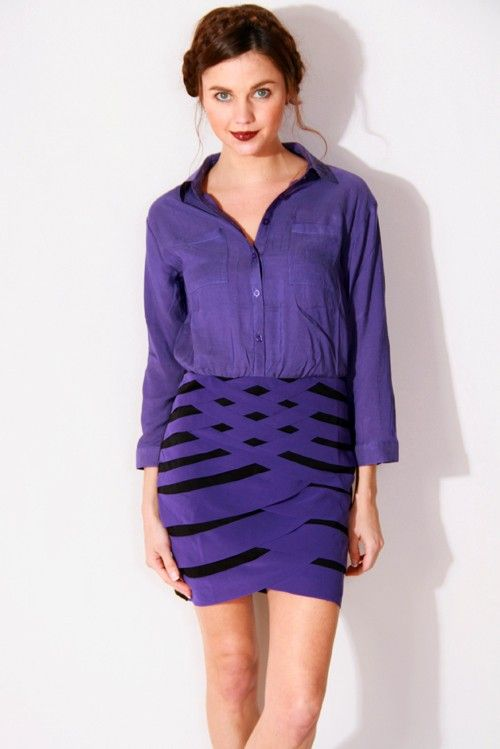 #1015store.com #careerdress #stylish 1015store.com-cut out backless career cocktail shirt dress-$15.00