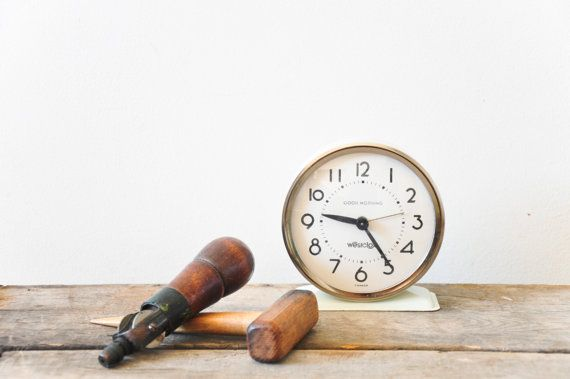 Vintage Alarm Clock // Good Morning Westclox // by theweekendshop