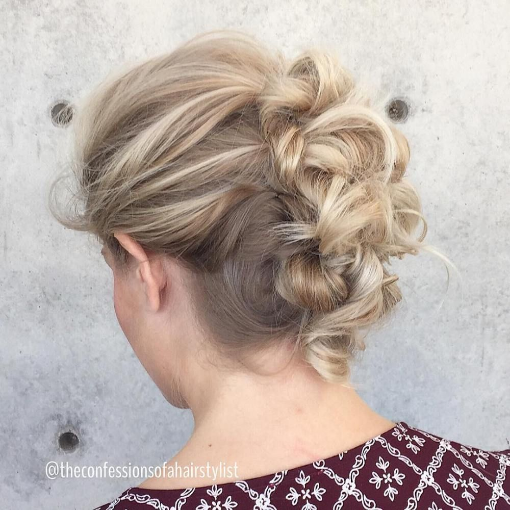 updos for thin hair that score maximum style point mohawk updo