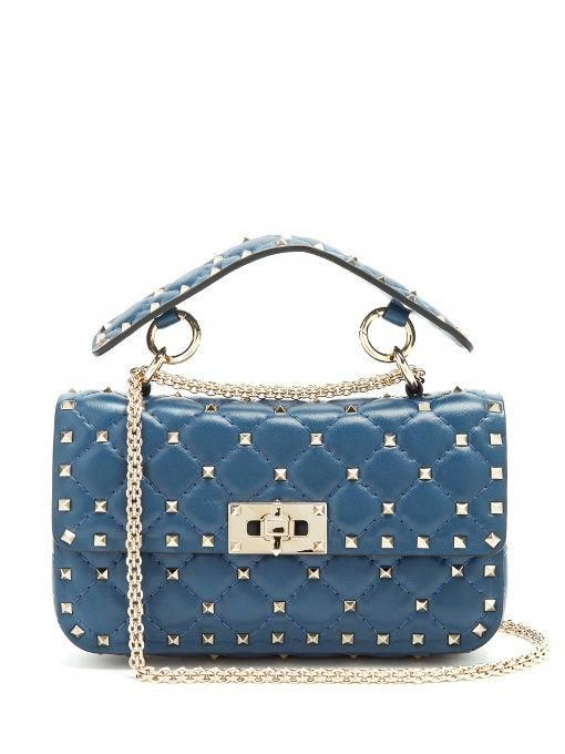 364531021b VALENTINO Rockstud Spike Small Quilted-Leather Shoulder Bag. #valentino # bags #shoulder