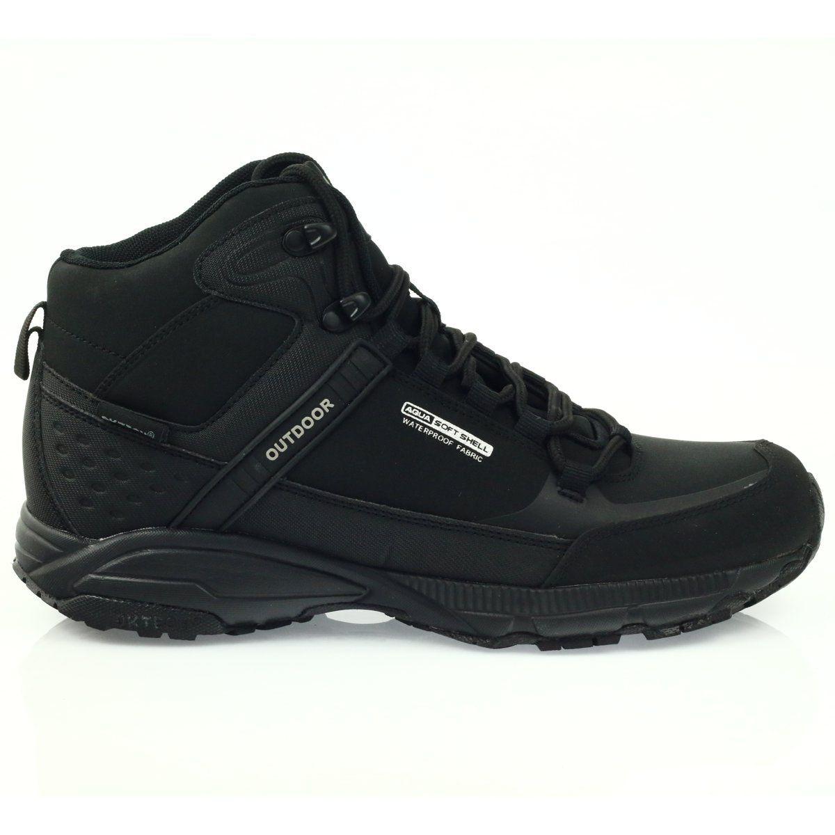Buty Trekkingowe Softshell Dk 1751 Czarne Shoes Mens Boots All Black Sneakers