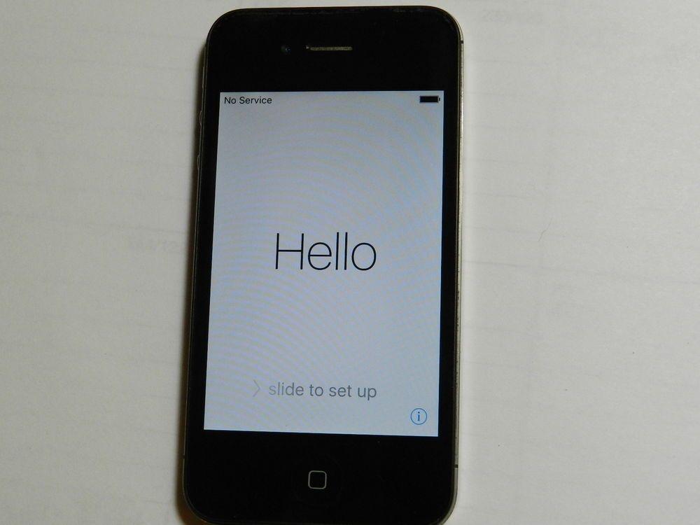 Apple Iphone 4s 16gb Black At T Smartphone Mc918ll A Apple Bar Apple Iphone 4s Iphone Smartphone