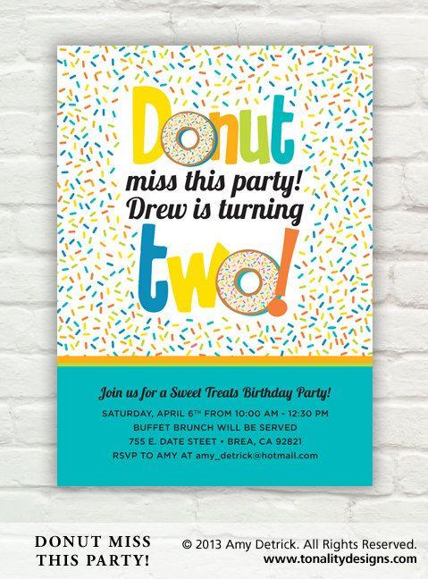 Donut Birthday Party Invitation Diy Printable Pdf Invite