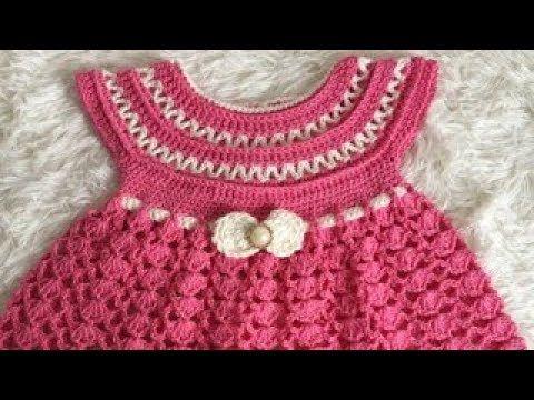 70da49f21 TEJE VESTIDO ROSY PARA NIÑA - Crochet fácil y rápido - Yo Tejo con ...