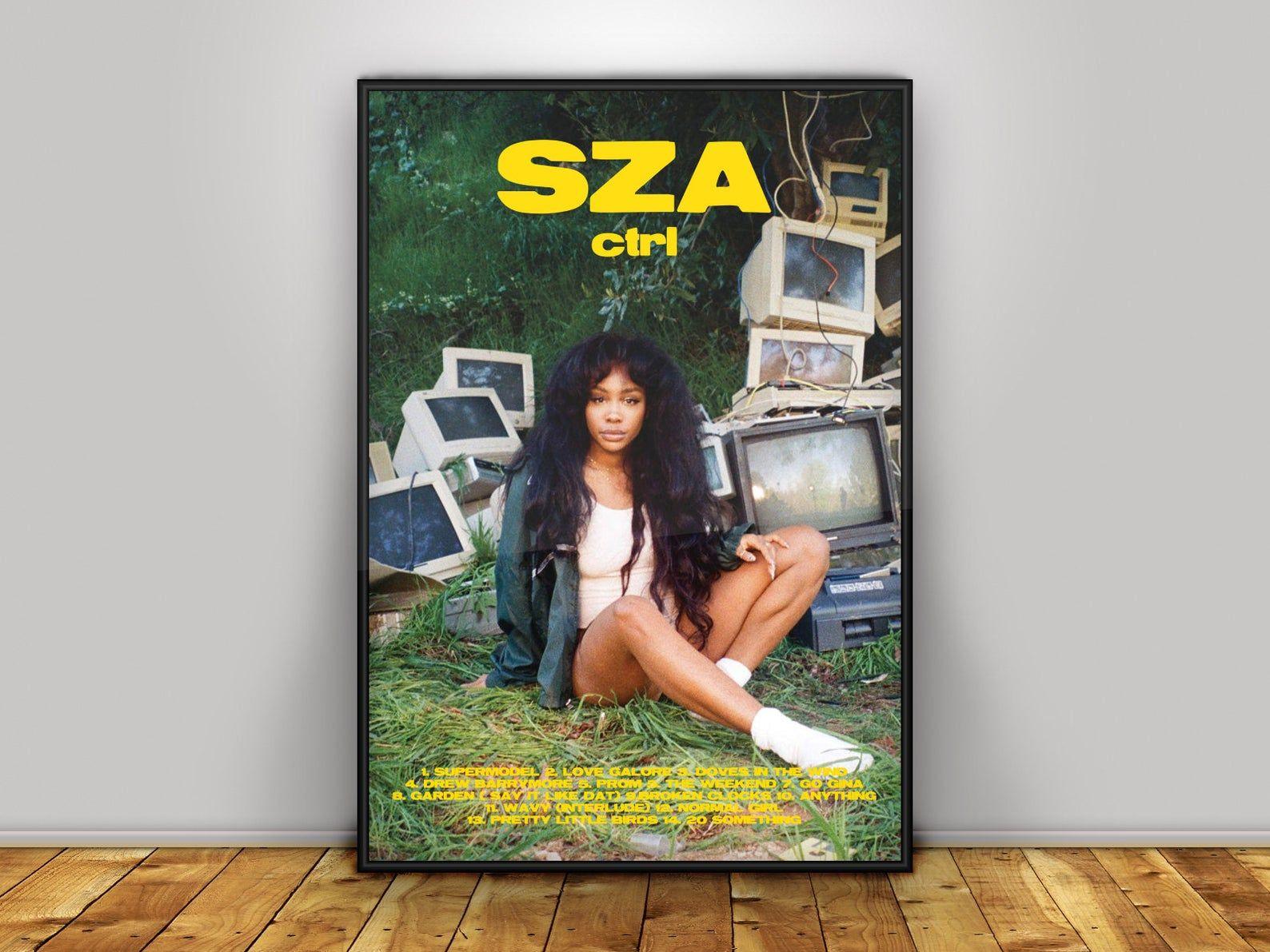 SZA CTRL Poster SZA Poster Ctrl Album Cover Poster Digital Download
