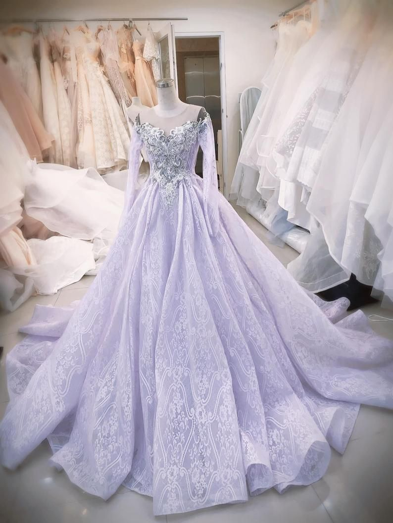 Gorgeous Purple Princess Wedding Dress Made To Order Off The Etsy Fairy Tale Wedding Dress Purple Wedding Dress Purple Wedding Gown [ 1057 x 794 Pixel ]