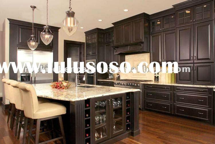 Dark Cabinets With Dark Granite   Kitchen Cabinets Black Solid Wood, Kitchen  Cabinets Black Solid