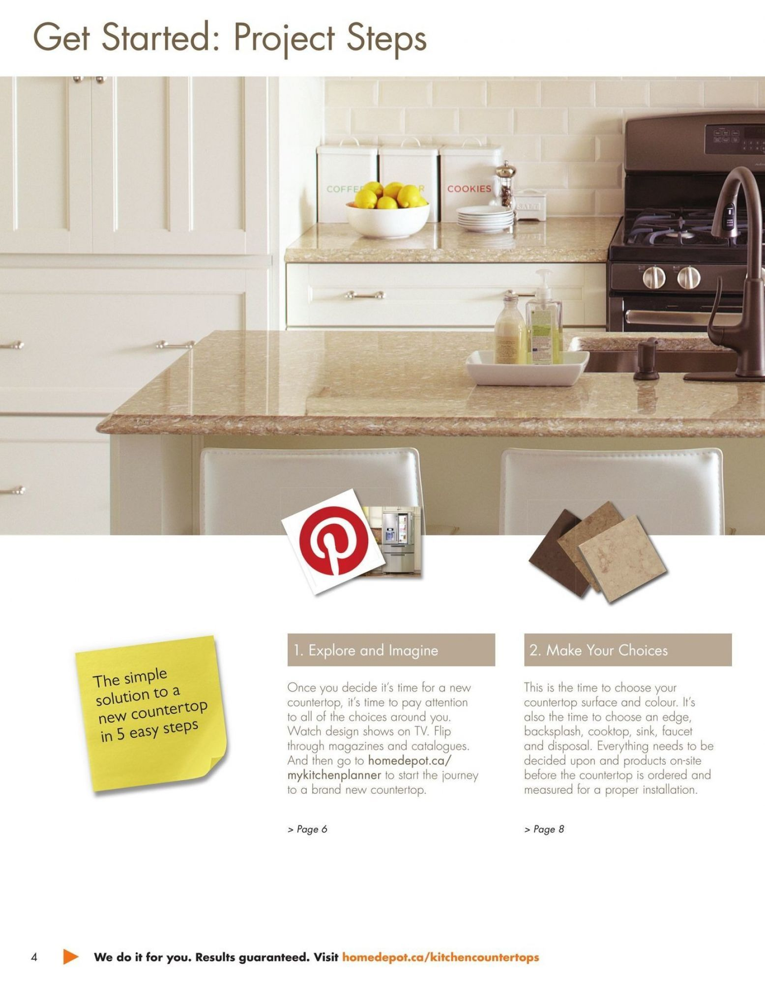 Flyer Home Depot Countertop Buying Guide Canada From Monday January 1 2018 To Monday December 31 2018 With Images Home Depot Flyer Simple Solutions