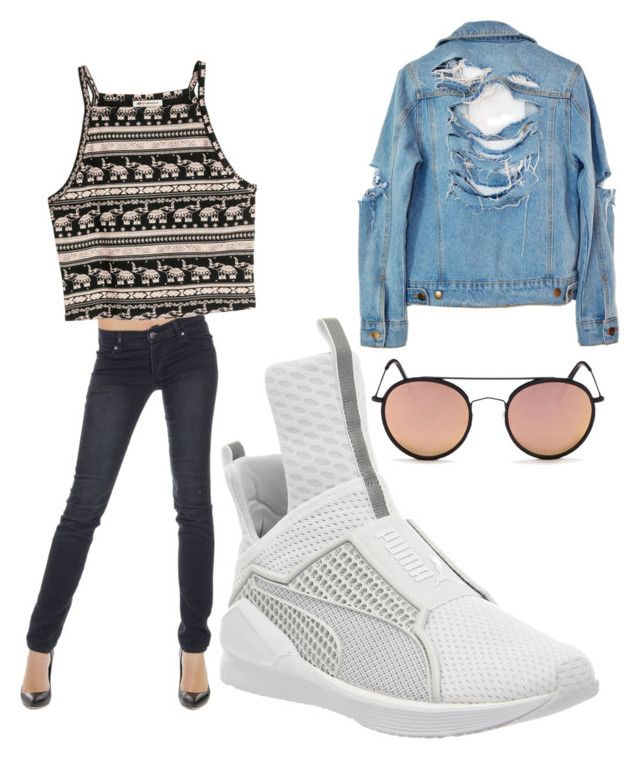 """""""Random"""" by kanyaneeh on Polyvore featuring Cheap Monday, Puma, High Heels Suicide and Spektre"""