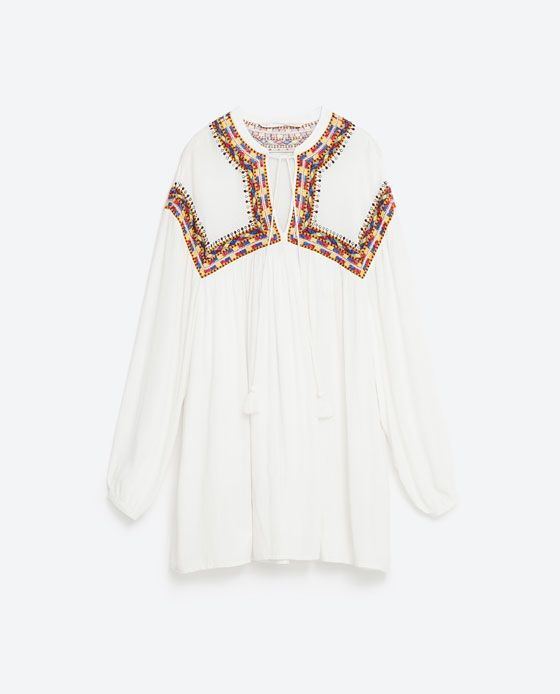 Image 8 of FULL EMBROIDERED DRESS from Zara