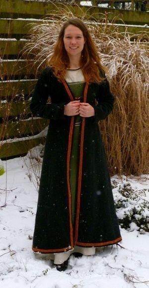 Viking coat with woven band by shelia