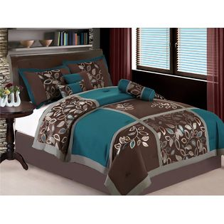 Brown And Teal Bedding Bedding Ummm Pinterest Teal - Teal and brown bedroom designs