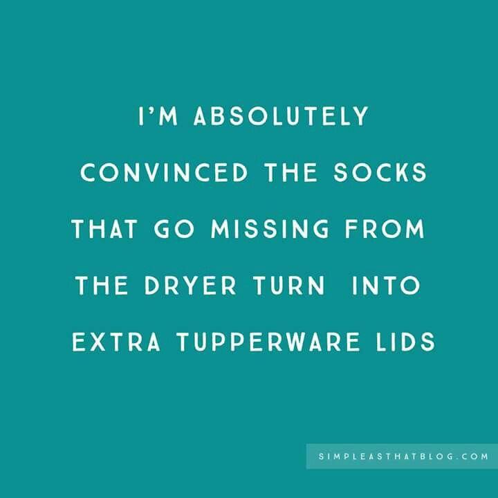 ...missing socks...turn into extra Tupperware lids