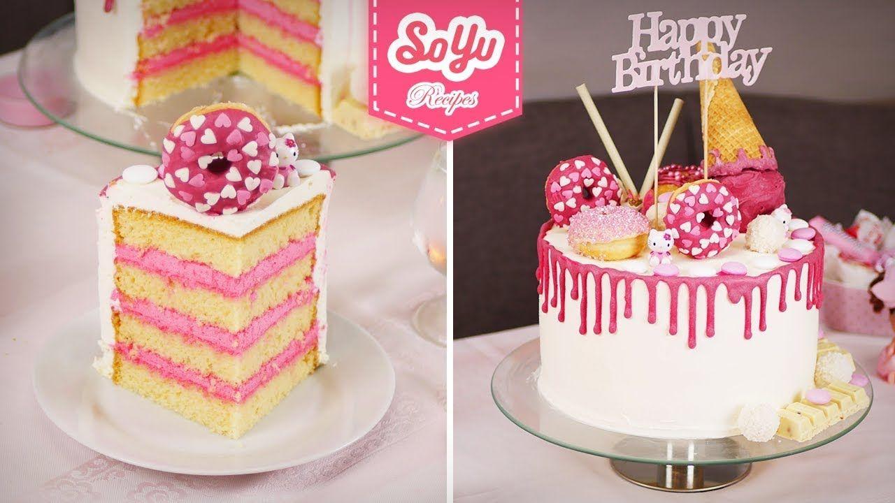 طريقة تزيين كيكة عيد ميلاد بنوته في البيت وأفضل من محلات الكيك Desserts Cake Cake Decorating