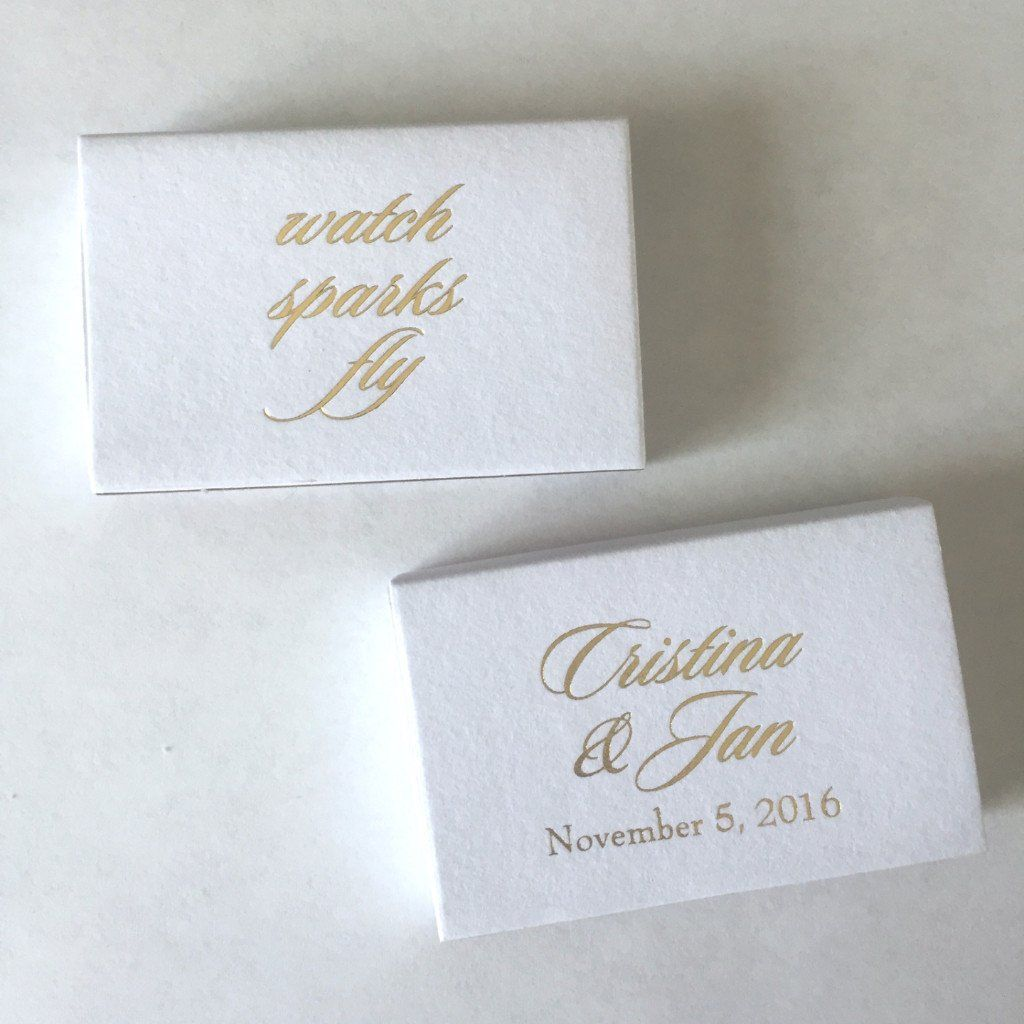 Watch the Sparks Fly Personalized Matchbooks