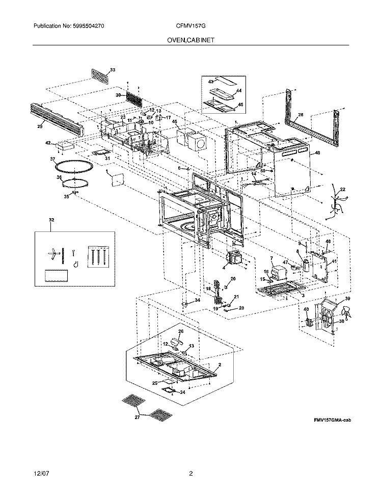 Kenmore Frigidaire Parts >> Frigidaire Kenmore Electorlux Microwave Fan Blade 5304464257