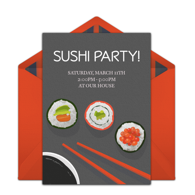 free sushi dinner invitations in 2018 parties pinterest