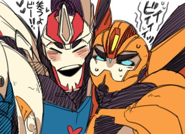 tfp: Smokescreen and Bumblebee by c0ralus deviantart com on