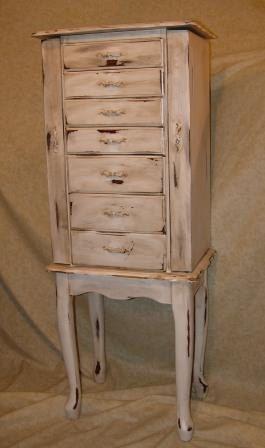Vintage jewelry armoire distressed nice vintage and for Juno vintage modern jewelry armoire
