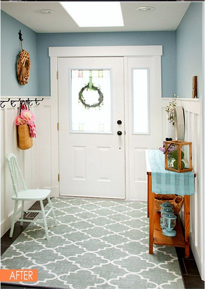 White Wainscoting Can Make A Small Entryway Look Amp Feel