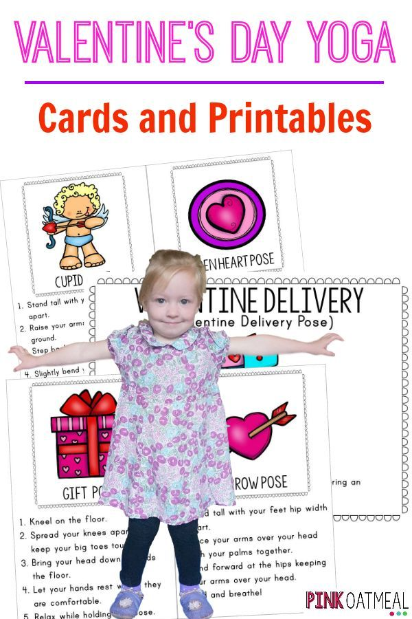 Valentine S Day Yoga Cards And Printables Kids Yoga Pinterest