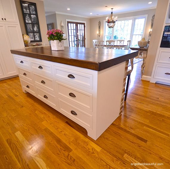Kitchen Island Makeover Ideas: Our White And Gold Kitchen Makeover