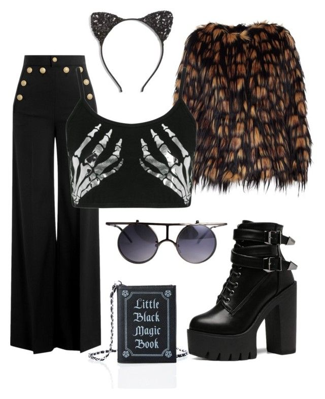 """""""Halloween Soft night !"""" by shanarevival on Polyvore featuring mode, Cara, Dries Van Noten, RED Valentino, Boohoo et Current Mood"""