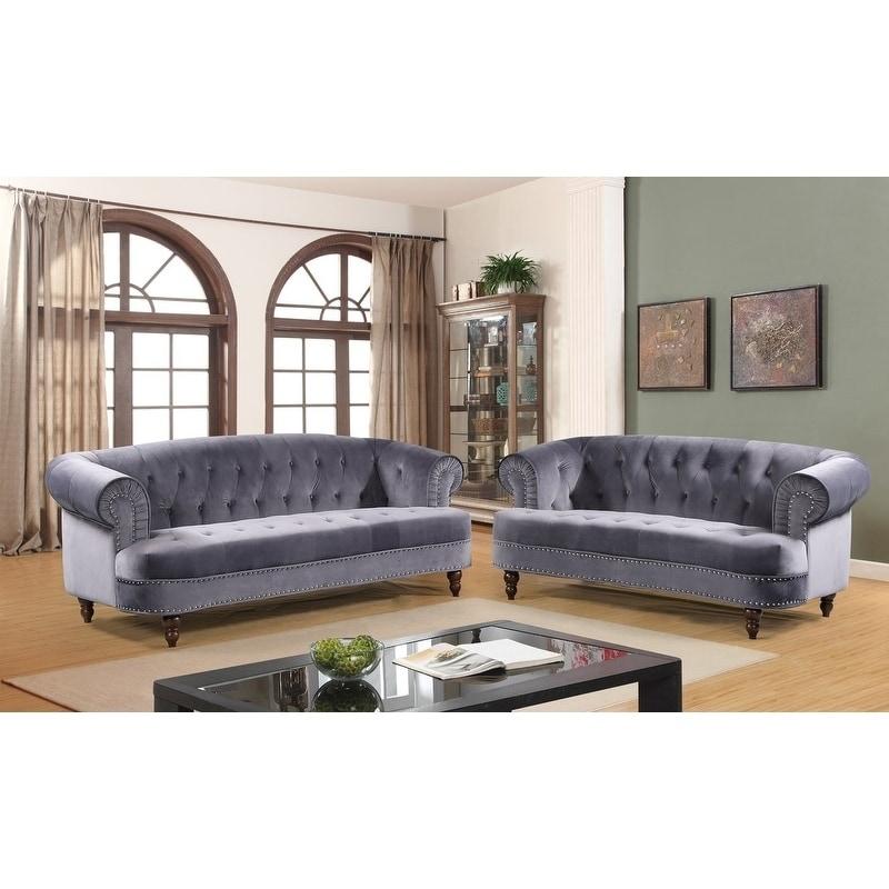 Best Walnut Chesterfield Sofa Set Red Us Pride Furniture 400 x 300