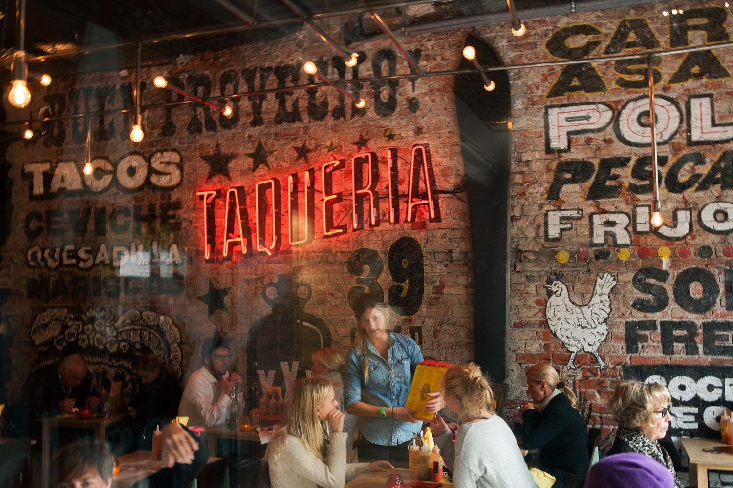 Taqueria The Metric System Mexican Restaurant Design Mexican Restaurant Decor Restaurant Design