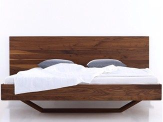 Lacquered Wooden Double Bed B15 More With Images Modern Wood