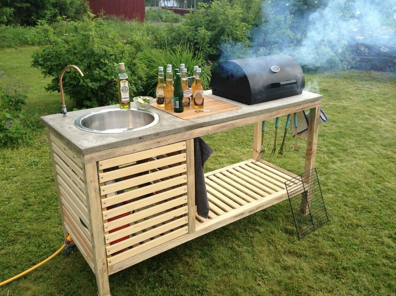 diy outdoor küche - diy - do it yourself ideen, anleitungen ... - Küche Mit Grill