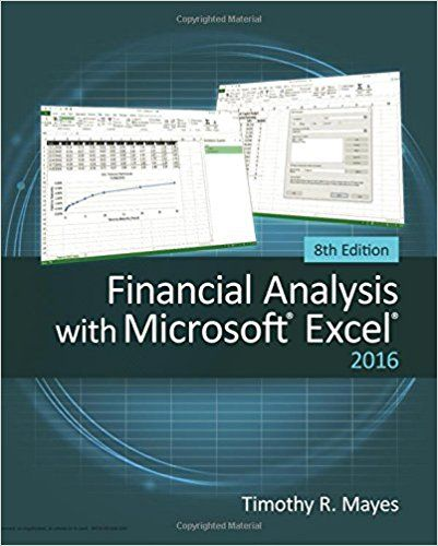 Financial Analysis With Microsoft Excel  E Th Edition