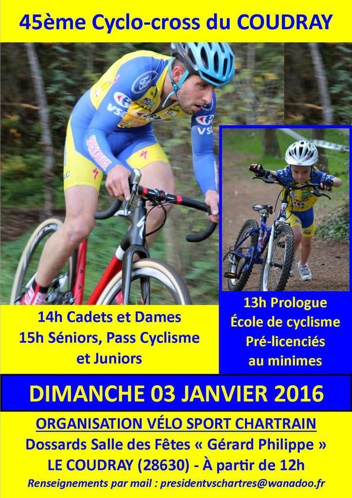 Le Vélo Sport de Chartres organise son Cyclo Cross du