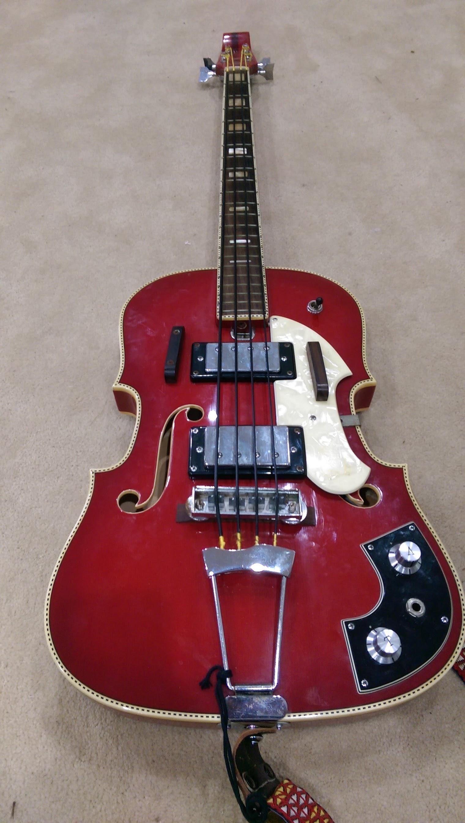1969 Emperador Fiddle Bass Guitar Bass Guitar Bass