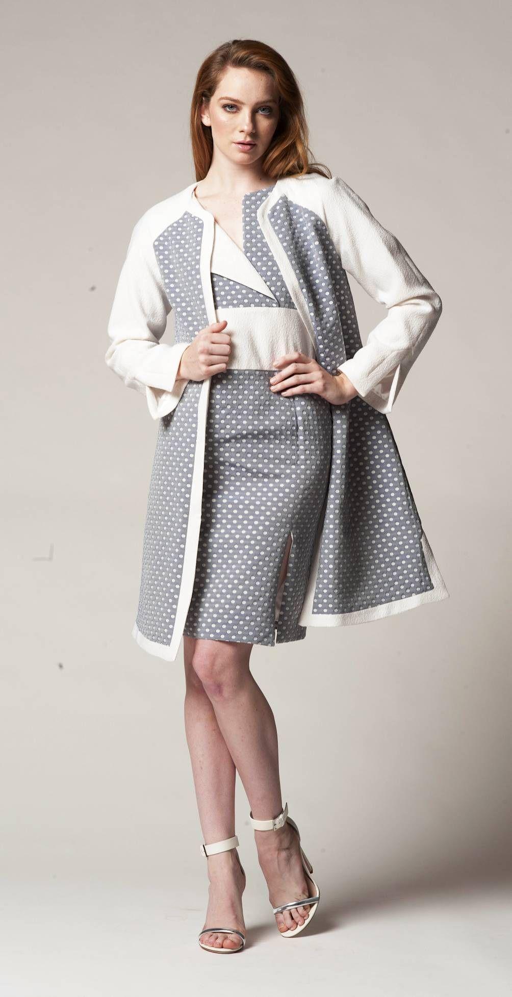Twotone long coat u dress springsummer pinterest spring