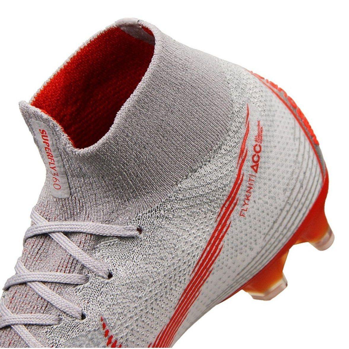 Buty Pilkarskie Nike Mercurial Superfly 6 Elite Ag Pro M Ah7377 060 Biale Biale Nike Superfly Shoes