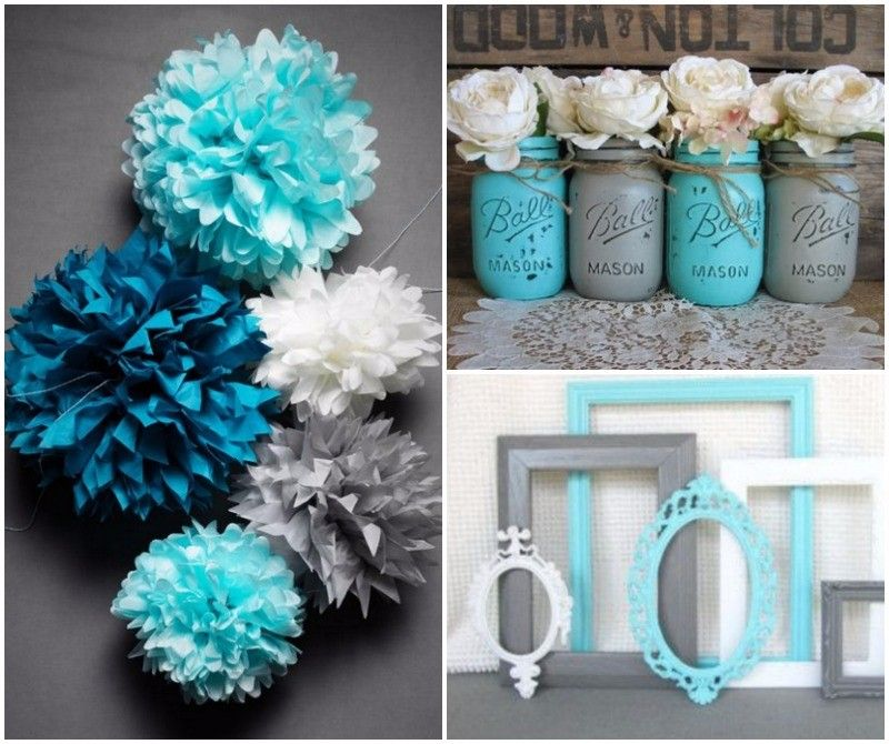 Ideas For A Turquoise And Grey Wedding