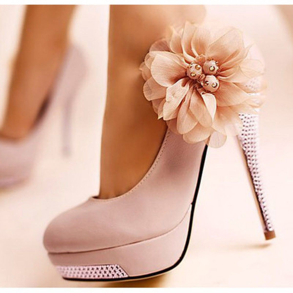 Pink Flower Pumps