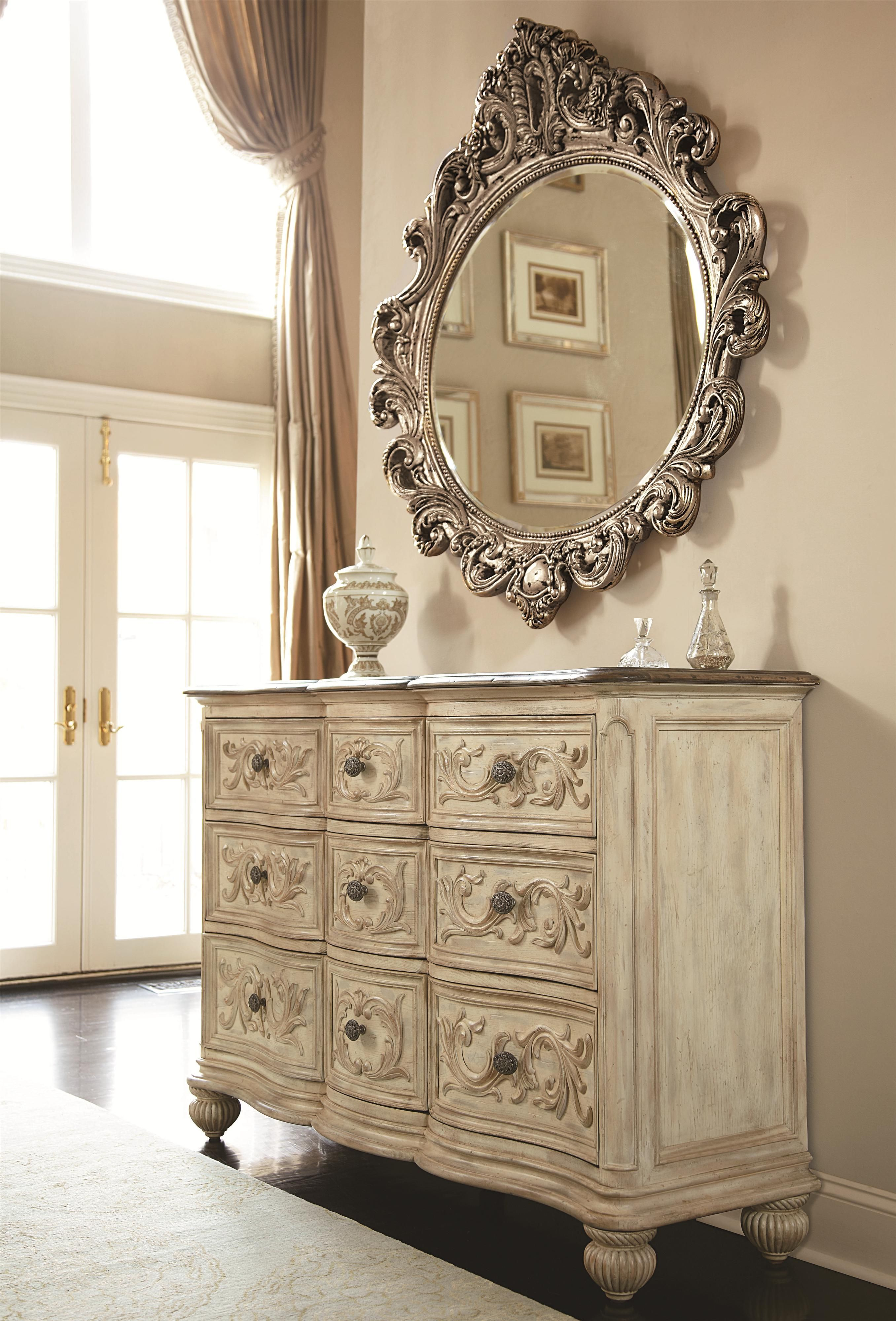 Shop Of The Jessica Mcclintock Boutique Oval Decorative Mirror( By American  Drew At Smart Furniture.